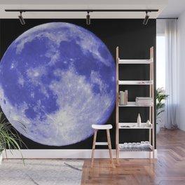 Blue Moon looks like Earth Wall Mural