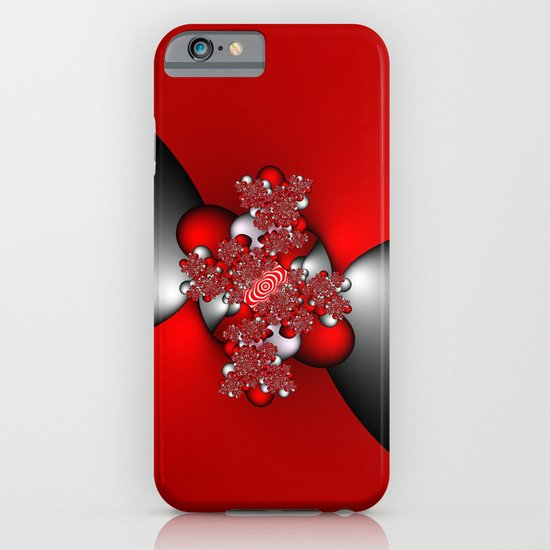 Red and Silver and Black iPhone & iPod Case