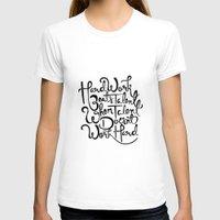 work hard T-shirts featuring Hard Work  by carlyfairbank