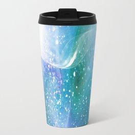 Blue, Purple and Green Neon Sparkle Travel Mug