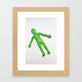 Little Green Man Framed Art Print
