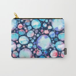 Pink and Blue Watercolor Universe Carry-All Pouch