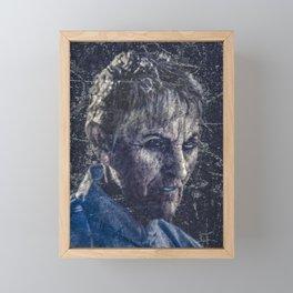 Senior Zombie Portrait - Photo Manipulation Art Framed Mini Art Print