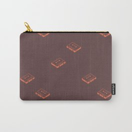 Cassette Pattern- Brown Carry-All Pouch
