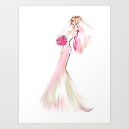 Blushed Bride Art Print