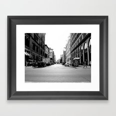 New York crosswalk Framed Art Print