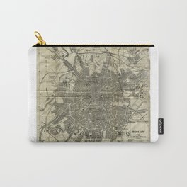 1893 Historic Map of Moscow Carry-All Pouch