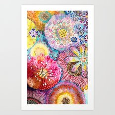 Flowered Table Art Print