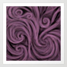 dark lavender swirl Art Print