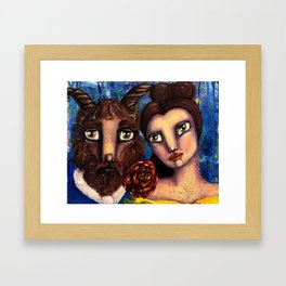 Beauty & the Beast Framed Art Print