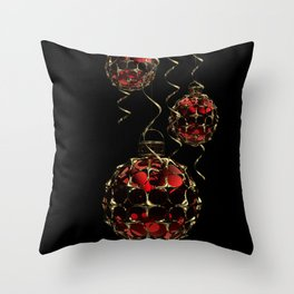 Christmas Baubles & Ribbons Throw Pillow