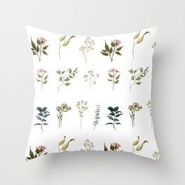 Delicate Floral Pieces Throw Pillow