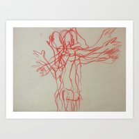 Red Man Art Print