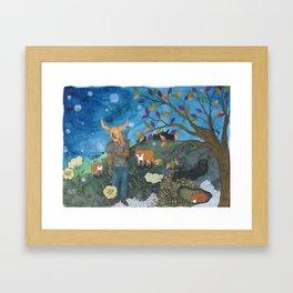 Father Fox Framed Art Print
