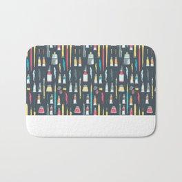Addicted to Art supplies pattern Bath Mat