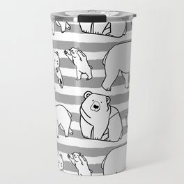 Bears B/W Travel Mug