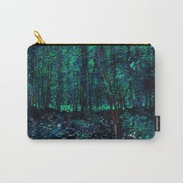 Vincent Van Gogh Trees & Underwood Teal Green Carry-All Pouch