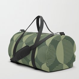 Abstract Circles pattern green  Duffle Bag