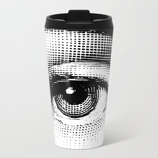 Lina Cavalieri Eye 01 Metal Travel Mug