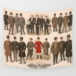 Men's fashion fall and winter 1895 Wall Tapestry