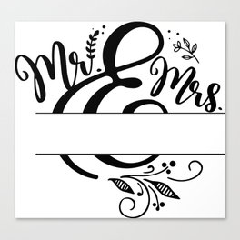 Mr and Mrs - Draw Your Name Self Canvas Print