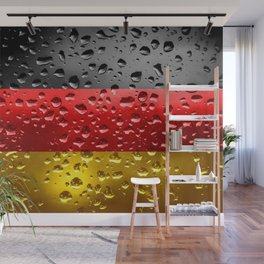 Flag of Germany - Raindrops Wall Mural
