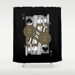 Omnia Suprema Queen of Spades Shower Curtain