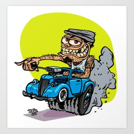 Drivers Cap HotRod Art Print