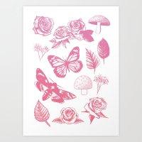 Flower Print  Art Print