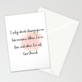 Champagne love II Stationery Cards
