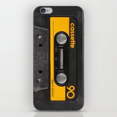 Yellow Cassette iPhone & iPod Skin