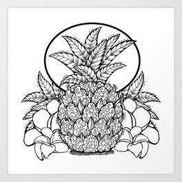 pineapple kush Art Print