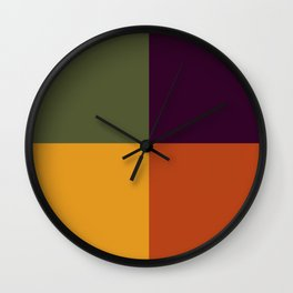 Fall Into Squares Decorative Pattern Wall Clock