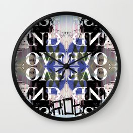 PISS AND LOVE Wall Clock