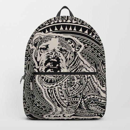 Polynesian English Bulldog Backpack