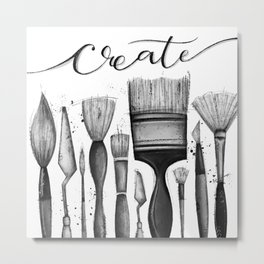 Just Create Metal Print