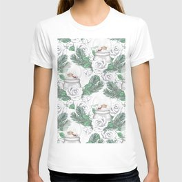 Snow globes and roses T-shirt