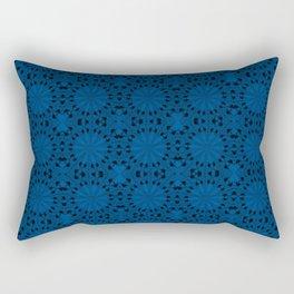 Lapis Blue Star Rectangular Pillow