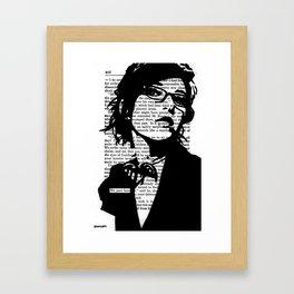 We Part Here Framed Art Print