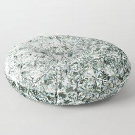 White Diamond Abstract Art Pattern 07 Floor Pillow