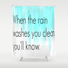Ombre - Blue - Dreams by Fleetwood Mac Shower Curtain