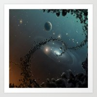 big bang Art Prints featuring Big Bang by SwanniePhotoArt