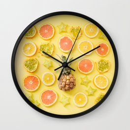 Tropical Pineapple Art Wall Clock