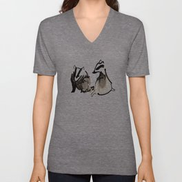 Badger Couple Unisex V-Neck