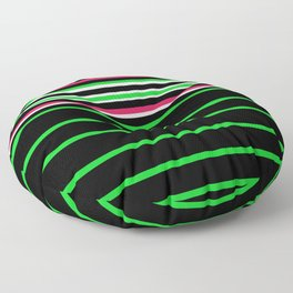 Bright Stripes II Floor Pillow