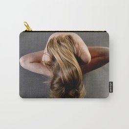 1784s-MS Seated Blond Woman Implied Nude Carry-All Pouch