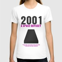 2001 a space odyssey T-shirts featuring 2001: A Space Odyssey Movie Poster by FunnyFaceArt