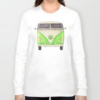 volkswagon Long Sleeve T-shirts featuring VW Type 2 by One Curious Chip