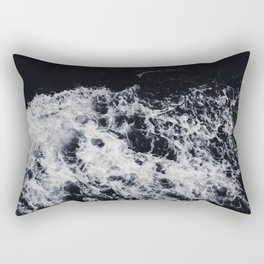 OCEAN - WAVES - SEA - ROCKS - DARK - WATER Rectangular Pillow