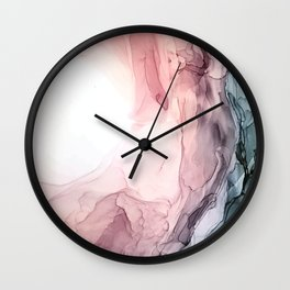 Blush and Blue Dream 1: Original painting Wall Clock